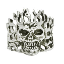 Indian Headdress Punk Skull Biker Ring Men's Boys Ring New Style, 925 sterling biker rings