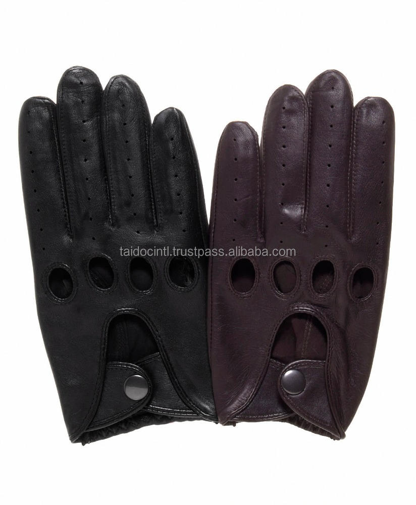 Genuine Italian Sheep Skin Napa Smooth Soft Leather Fashion Gloves Best quality by Taidoc International
