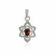 High Quality Jewelry Real Garnet Gemstone New 925 Sterling Silver Pendant