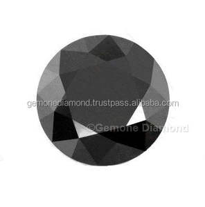 Big Size Jet Black Moissanite Round Brilliant Cut From Bottom Dealer , moissanite price