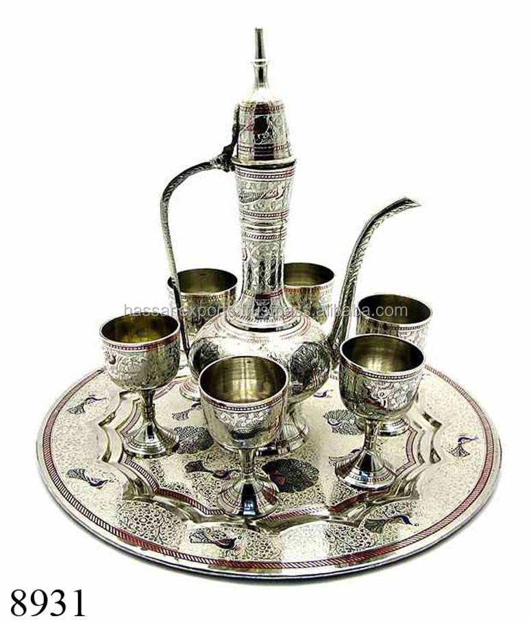 Handicrafts of Brass Aftaba Arabic Wine Set