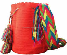 Summer Unicolor Wayuu Mochila bag