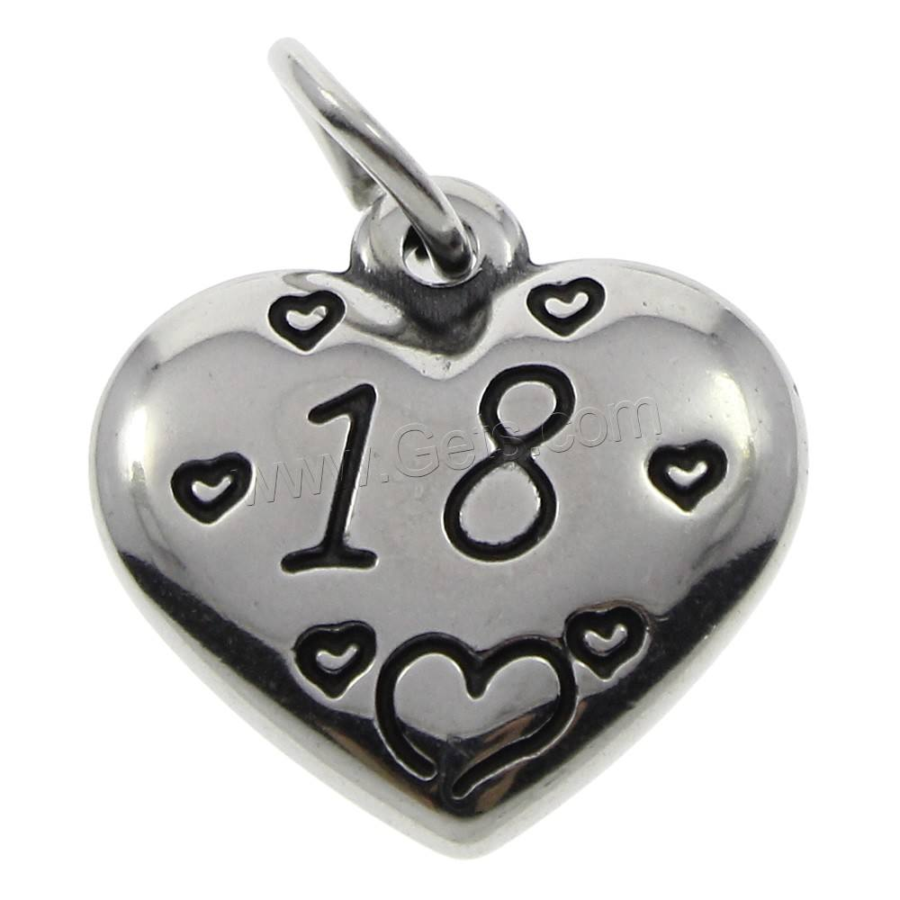 Stainless Steel liontin Jantung charm charms pendant 316L Stainless Steel nomor 18 liontin perhiasan