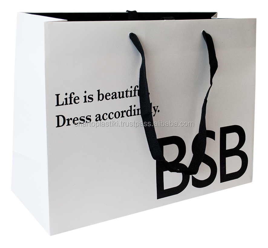 Paper bags for Shops customized Embossed High Quality Paper