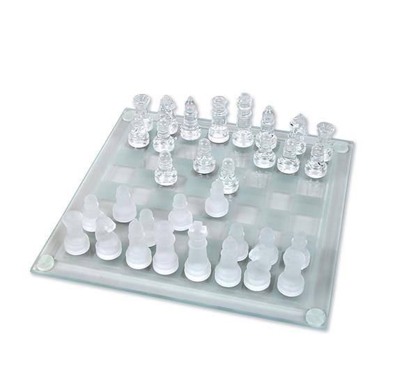 "7.5"" GLASS CHESS SET"