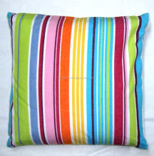 STRIPE MODEL SMALL CUSHION / FLOOR CUSHION / PU POLY FOAM FILLED SMALL CUSHION