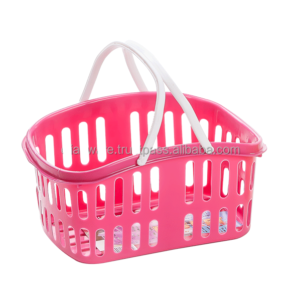 Small Plastic Storage Basket with Handle