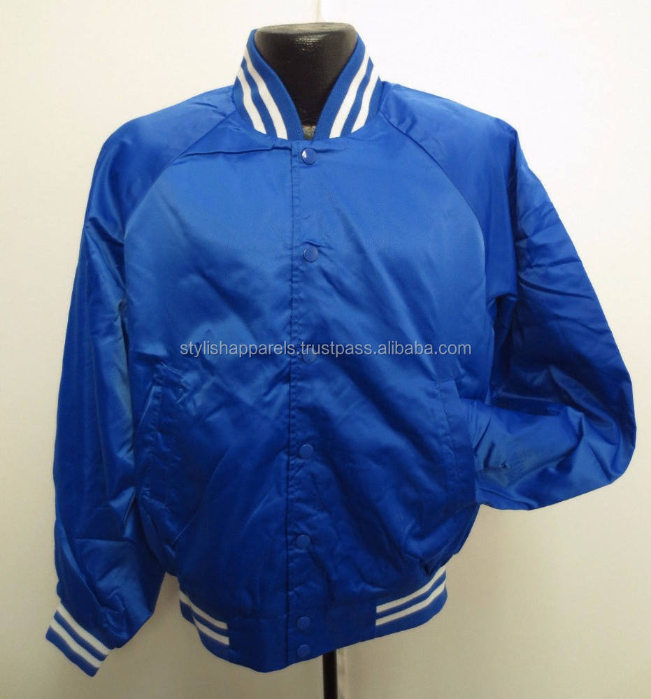 2015 satin jacket/ custom satin jacket/ satin jacket made from stylish apparel silakot pakistan