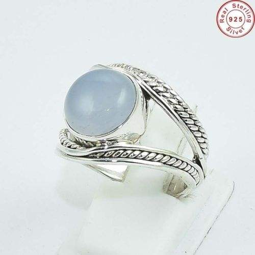 925 Sterling Silver Opalite Gemstone Nice Looking Ring Jewelry