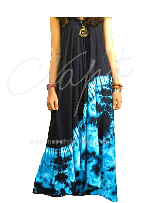 maxi dress Wholesale fashion Tie dye Colorful Dress,handmade tie dye.