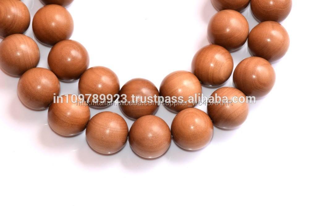 Japa mala preghiera perline all'ingrosso/Mysore sandalo scultura/sandalo artigianato del legno