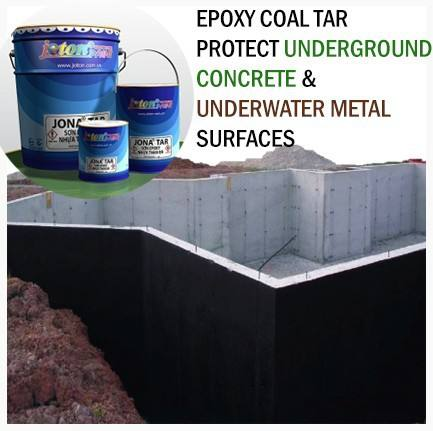 Epoxy Coal Tar Paint schützen Underground Concrete & Underwater Metal Surfaces JIS Standard JONA TAR