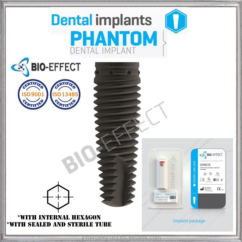 DENTAL IMPLANT, Titanium ,Screw Type And Sterilized, With Internal Hex+ 1 Straight Abutment As Gift For Each Implant