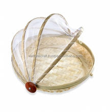 Vietnam bamboo fruit basket with net cover