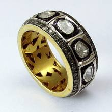 Marvelous Diamond_Polki 925 Sterling Silver Ring, Indian Silver Jewelry, Silver Jewelry Wholeseller