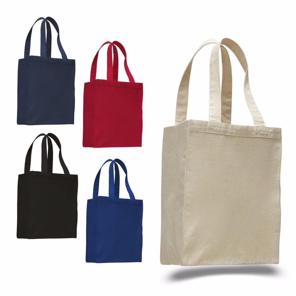 Wholesale Customized Logo Print Cotton Canvas Tote Bag with Custom Logo