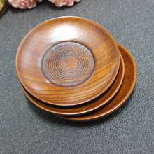 Saucer for Snack, Eco-friendly round wood dish, Solid plate, Tray,