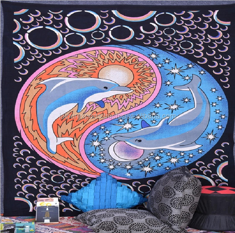 Gypsy wall decor art poissons conception plage jeter tapisserie