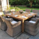 Teak Rattan dining chairs and table garden sets Outdoor Furniture otherhomefurniture
