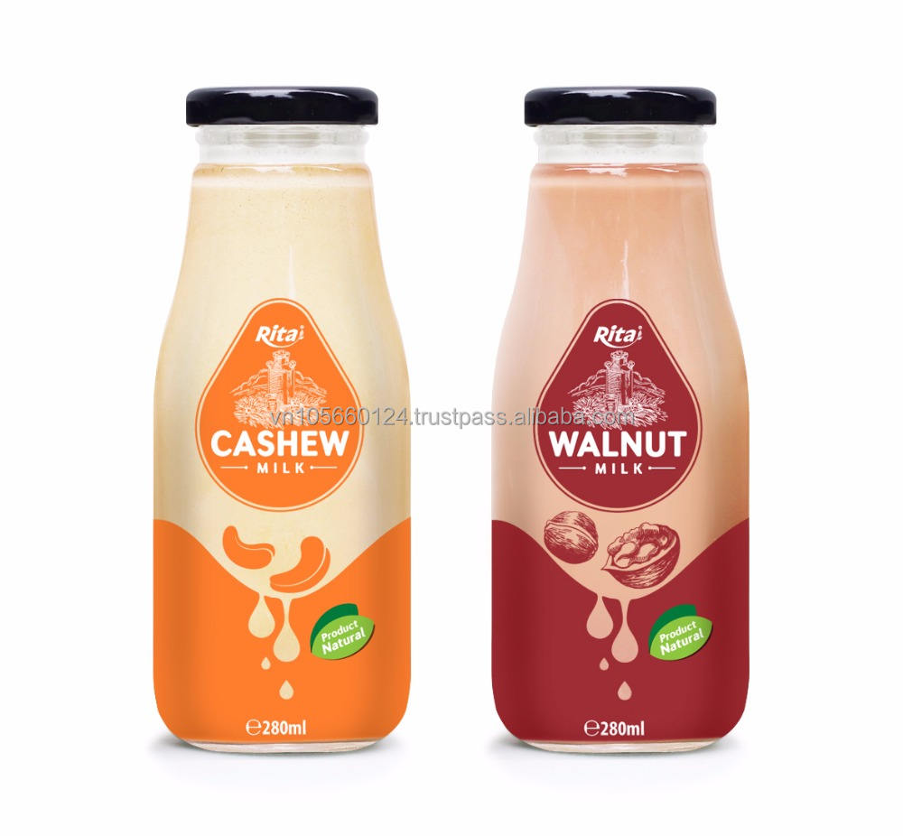 280ml Glass Bottle Cashew Milk Drink