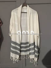 """Reina Kimono 09"" Made from Authentic Turkish Towel Peshtemal Fabric Tunic Poncho Kaftan Beach Dress"