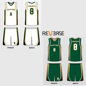 Top sublimated reversible basketball jerseys