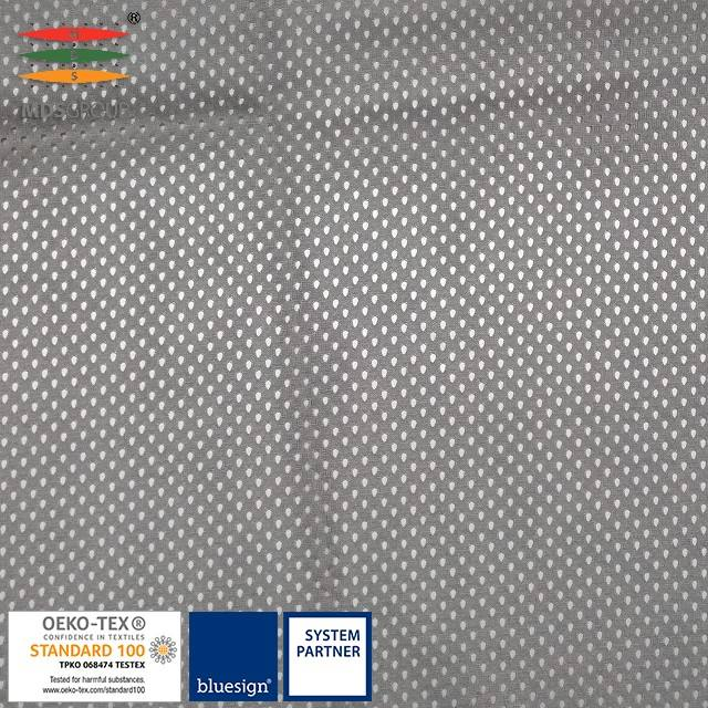 100% micro polyester warp knit tricot mesh suitable for lining panel and print of sportswear