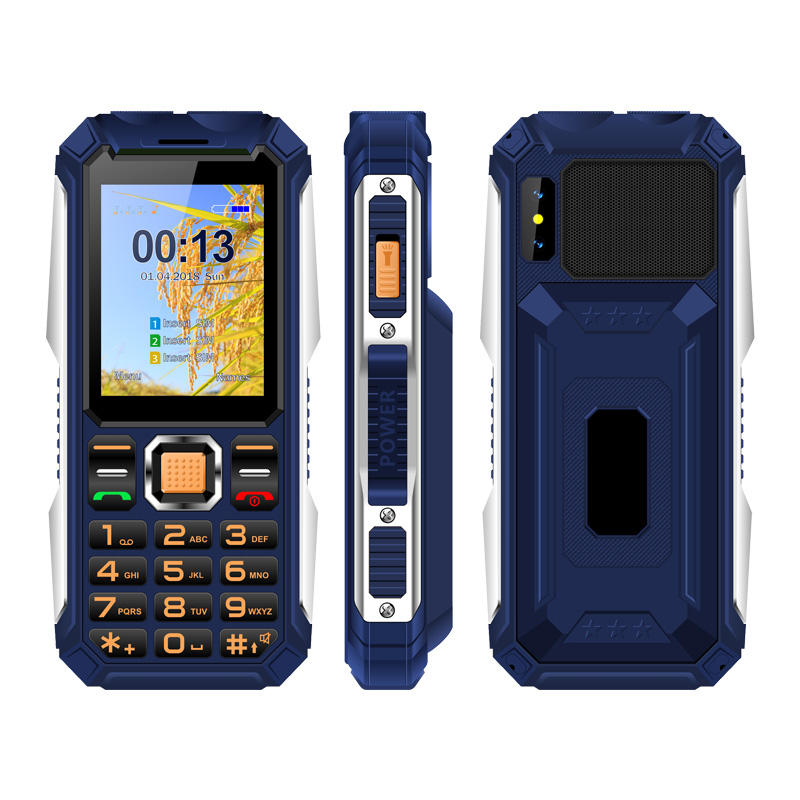 2.4 Inch Screen Rugged Style Power Bank Phone 3 Sim Card