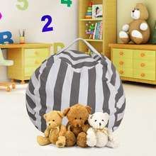 100% Cotton Canvas Extra Large Cover Kids Toy Storage Custom Bean Bags Stuffed Animals Bean Bag Chair