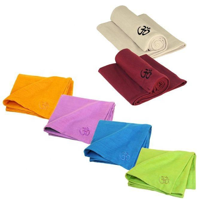 Heavy Yoga Blankets Made of 100% Cotton, Customized Yoga Blankets