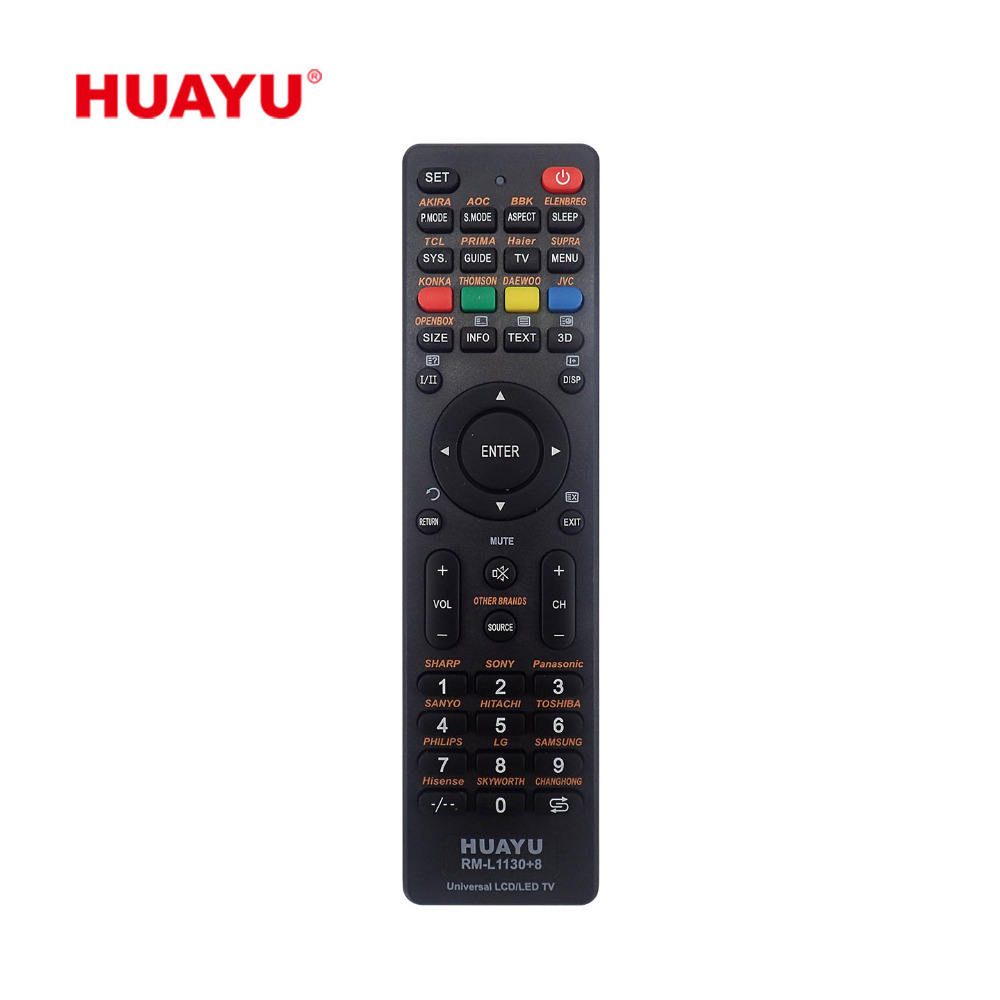RM-L1130 + 8 Huayu Universal LCD LED TV Remote Control