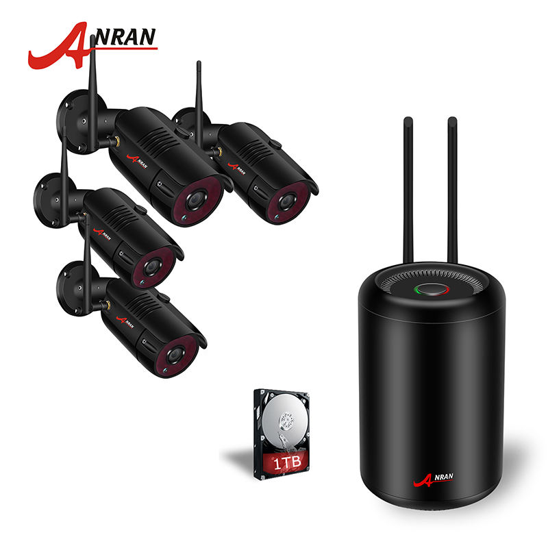 New Trending Product 2019 anran 2mp h.265 bullet camera kit full hd 4ch 1080p wireless camera security video surveillance system