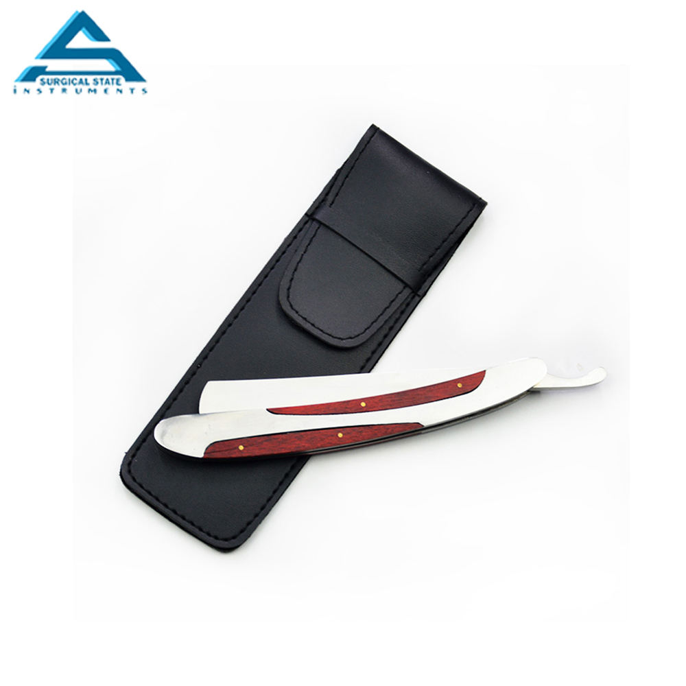 OEM Service Best Quality Barber Shaving Razor With Custom Handle With pouch Beauty Instruments