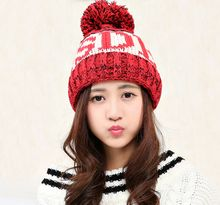 Knitted Winter Hat Warm Caps Beanies Skullies Winter Hats For Women Bonnet Ladies Brand Beanie Thicken Mask Fur Touca 2017 Cap