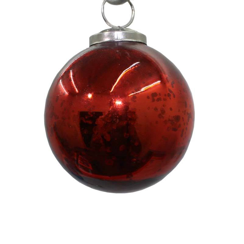 Red Hanging Balls Glass Ornament