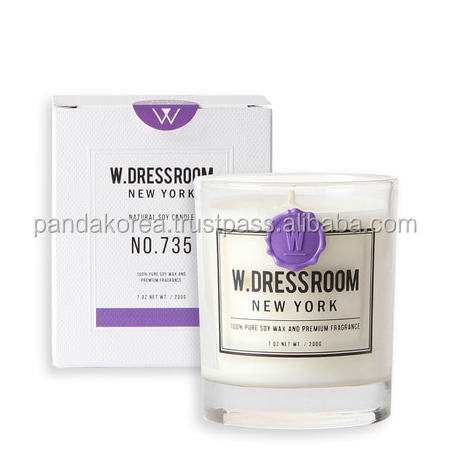 W.DRESSROOM Scented Natural Soywax Candle No.735 Lavender&Lemon 180g Home Decoration