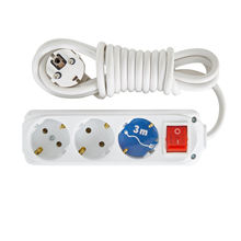High Quality Best Seller Almera 3 Gang Earthed Extension Socket with Switch & 3m Cord