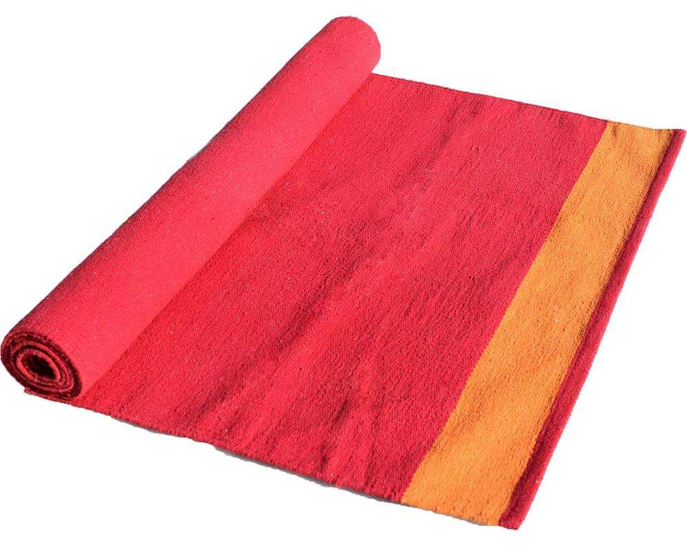 reversible cotton rug for Yoga anti slip quality organic yoga mat