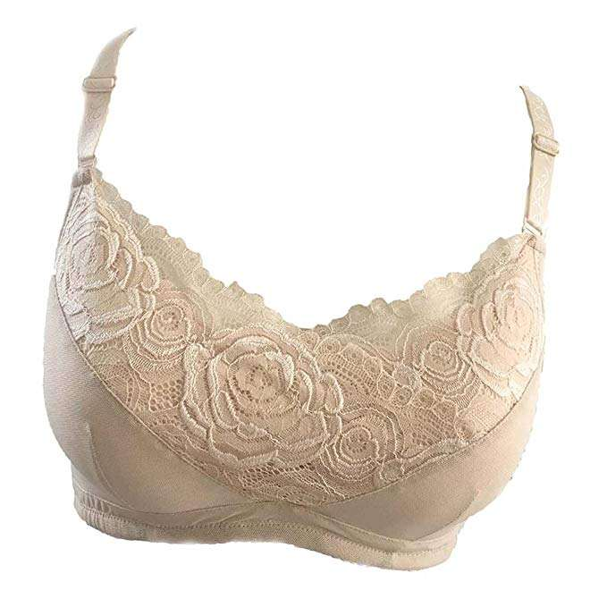 custom beige color leather and cotton bra