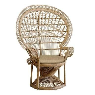 Rattan/Wicker Material Peacock chair