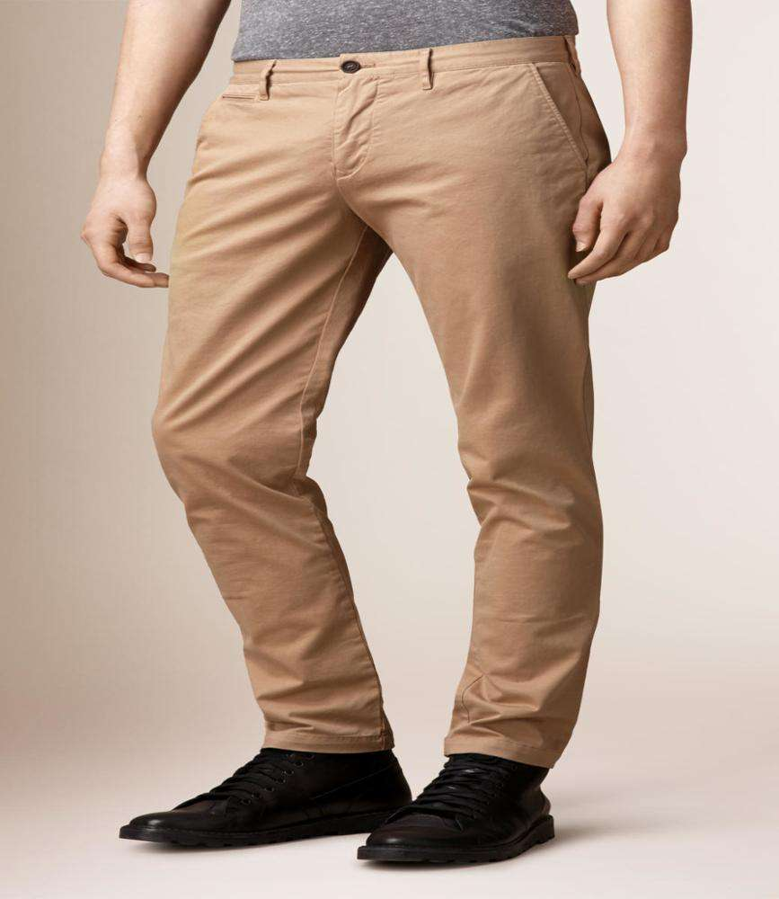 customized design comfortable 100% cotton twill long chino pants for mens
