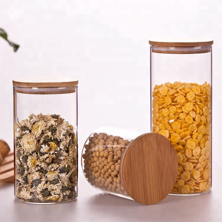 Glass food container , mini glass candy jar