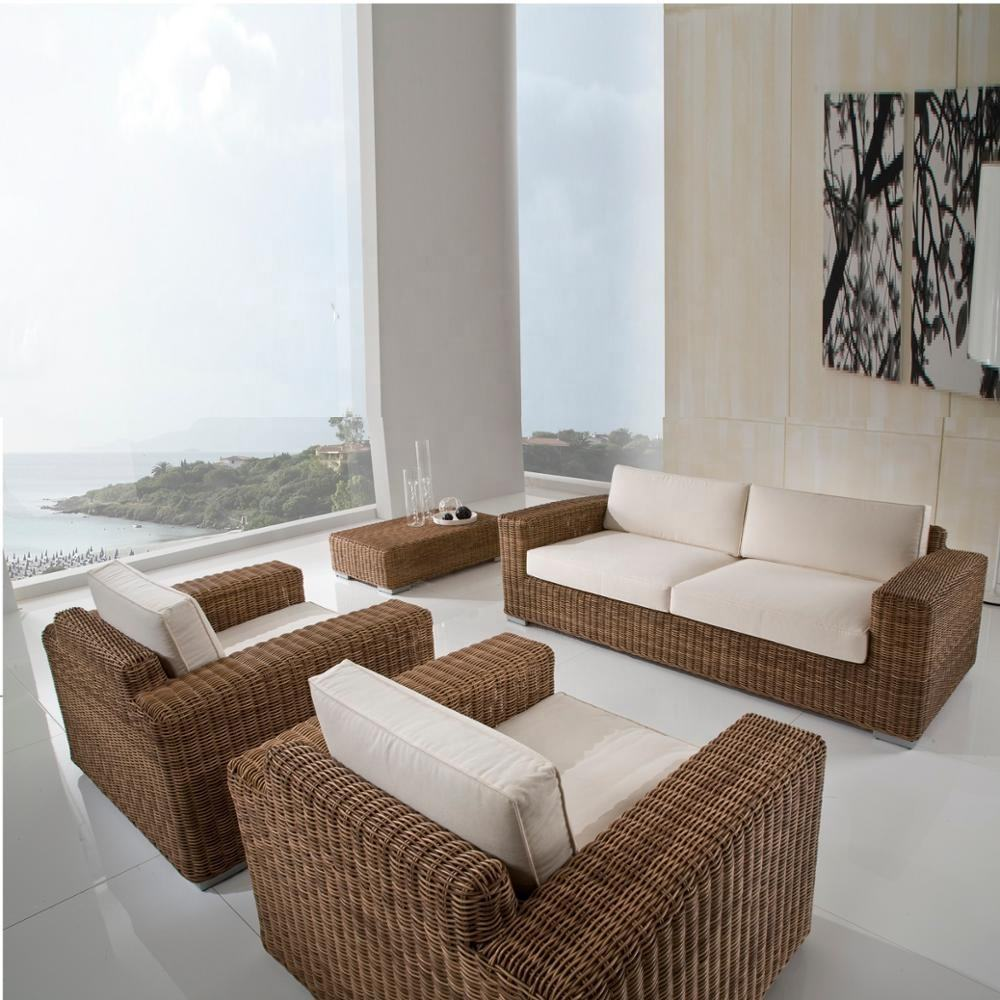 Living room royal outdoor furniture patio sofa set - Wicker rattan outdoor garden furniture sofa set
