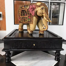 Indian wooden hand craved beautiful unique elephant wine case