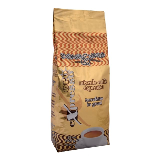 ITALIAN COFFEE BEANS 1 Kg.- ROASTED COFFEE ORO EXPRESSO