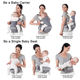 Baby Carrier Convenient Safety Newborn Adjustable Hipseat Baby Sling Wrap Carrier 4 In 1 Baby Carrier