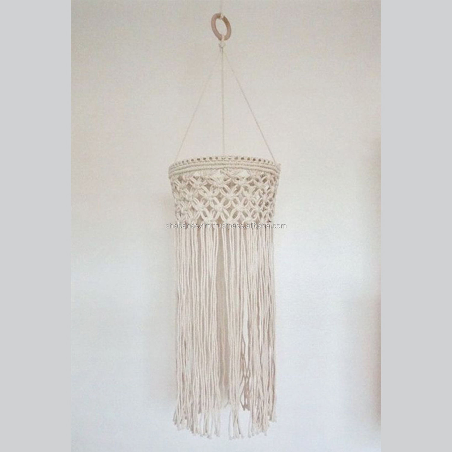 Chandelier Hanging Cotton Rope Macrame Patterns Boho Natural Lampshade Suppliers