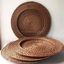 Eco-friendly wholesale rattan plate charger
