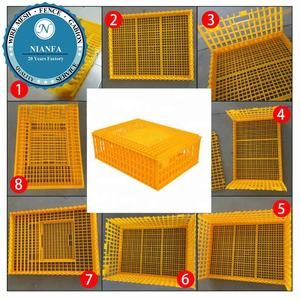 Hdpe Plastic Chicken Transport Box/live chicken plastic poultry transport box coop cages(Guangzhou Factory)
