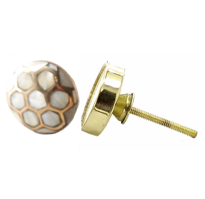 Shell Metal Handmade Cupboard drawer door cabinet knobs & Pull Handle [HBRMW 176]